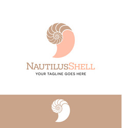 nautilus shell logo vector image vector image