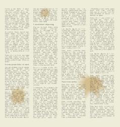 Newspaper in blots vector