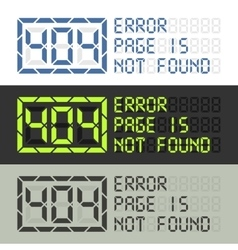 Page in not found error 404 message vector