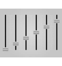 Panel console sound mixer 03 vector