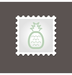 Pineapple stamp outline vector