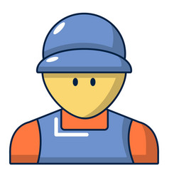 Plumber man face icon cartoon style vector