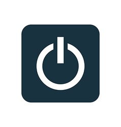 power on icon Rounded squares button vector image