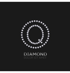 Q letter with diamonds vector