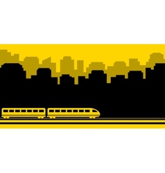 Railway transport background vector