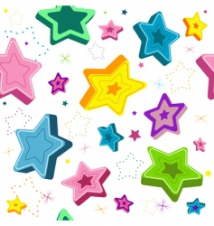 seamless stars vector image