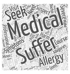Suffering from allergies should you see a medical vector
