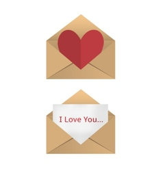 Valentine in the open envelope vector image vector image