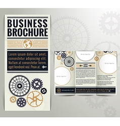 Vintage brochure design template vector
