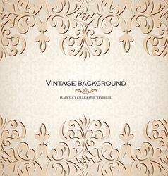 Vintage ornamental invitation card vector image