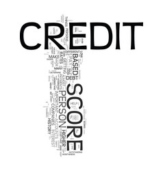 Your credit score dos and donts text word cloud vector