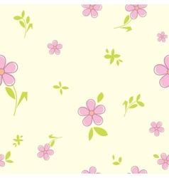 Flower seamless pattern vector