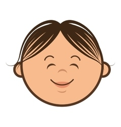 Kid smiling cartoon vector
