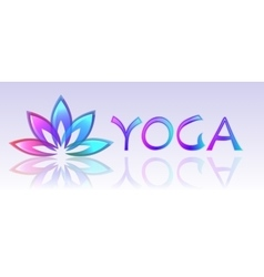 Yoga lotus logo on white background vector image