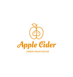 Apple cider logo vector