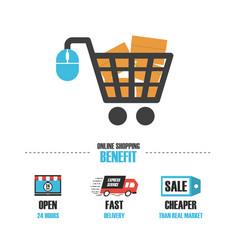489online shop benefit vector image