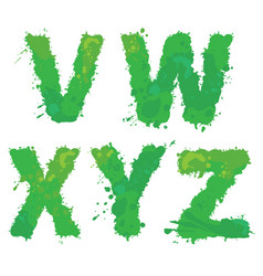 V w x y z handdrawn english alphabet - vector