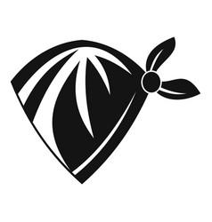cowboy neckerchief icon simple style vector image