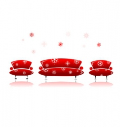 Sofa and armchair design vector