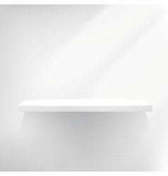 Detailed of white shelves vector