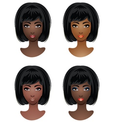 Makeup for African-American women vector image