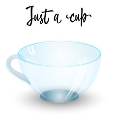 Empty coffee or tea glass cup isolated on white vector