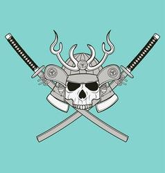 monochrome skull vector image