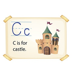 A letter c for castle vector