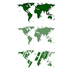 Green world map design vector