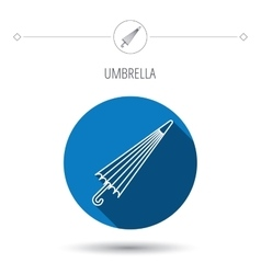 Umbrella icon water protection sign vector