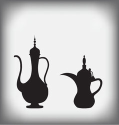 Arab old jug and coffee pot vector