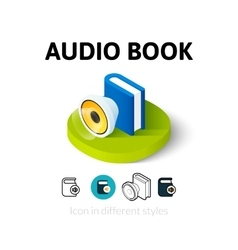 Audio book icon in different style vector