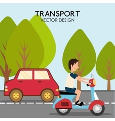 Vehicle transport icon vector