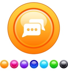 Chat circle button vector image