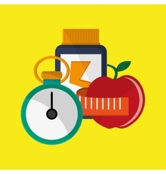 Healthy lifestyle design bodycare icon flat vector
