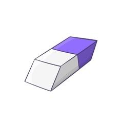 Blue and white rubber pencil eraser icon vector