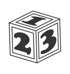 Abc blocks toy icon vector