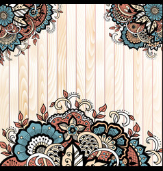 abstract floral elements in indian vector image vector image