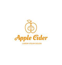 apple cider logo vector image