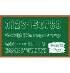 Back to School font vector image vector image