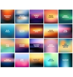 Big set of 20 square blurred nature backgrounds vector
