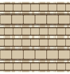 Brown retro background with film strips vector