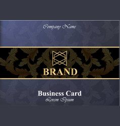 business card with luxurious ornament vector image vector image