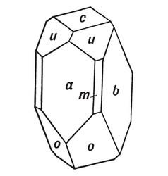 Calcium magnesium metasilicate vintage vector
