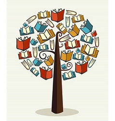 Concept books tree vector