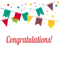 congratulations with flags vector image vector image