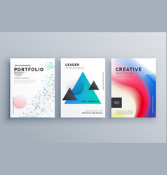 Creative brochure design teample set in a4 size vector