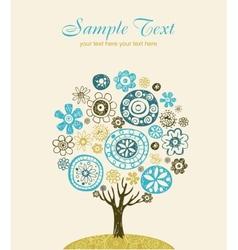 Cute ornate tree vector image vector image