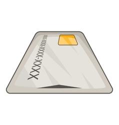 Debit card icon cartoon style vector
