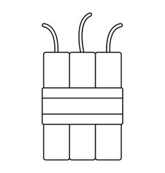 Dynamite explosives icon outline style vector